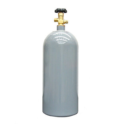 10 Lb Reconditioned Steel Co2 Cylinder Cga320 Valve - Fresh Hydro Free Shipping