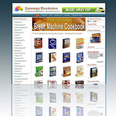 Money-making Home Based Business Automated Ebook Store 200 Ebooks