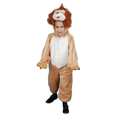 Deluxe-kids Kostüme (Deluxe Kids Plush Lion Costume Set By Dress up America)
