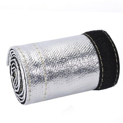 """Metallic Heat Shield Sleeve Insulated Wire Hose Cover Wrap Loom Tube 2Ft X 4.2"""""""