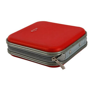 40 Disc CD DVD Portable Wallet Storage Organizer Holder Case Bag Album Box Red