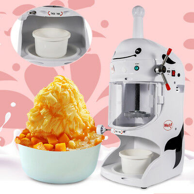 Commercial Electric Shaved Ice Crusher Cool Ice Cone Maker Snow Machine 350w