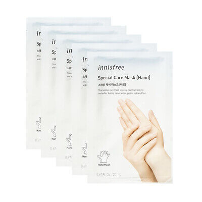 Innisfree Special Care Mask Sheet 5pcs # Hand  Free gifts