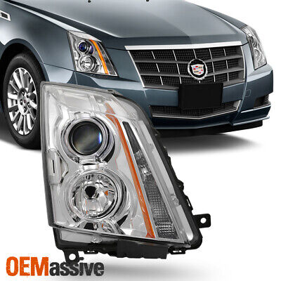Fits 2008-2013 Cadillac CTS Chrome Right Passenger Side Only Projector Headlight