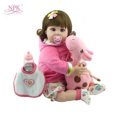 22in Realizzato a Mano Baby silicone Doll Realistica Bambina Reborn doll Gifts