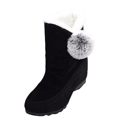 Fashion Women Ankle Boots Winter Shoes Warm Suede Flats Casual Shoes  USPS 9