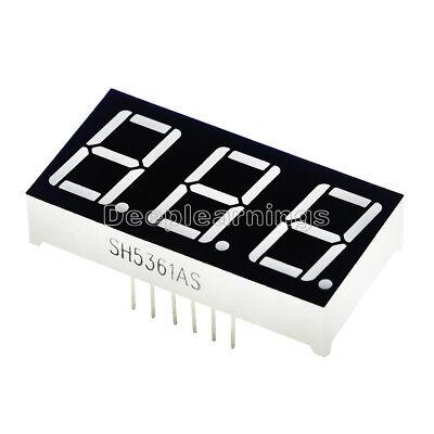 2pcs 0.56 Inch 3 Digit 7 Segment Common Cathode Red Led Display