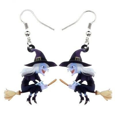 Acrylic helloween Dangle Stud 925 set hoop Wedding Party teen Women lot Earrings