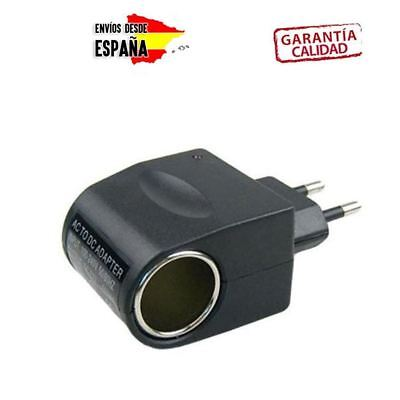Adaptador red de mechero a coche casa pared transforma convertir de 220V...