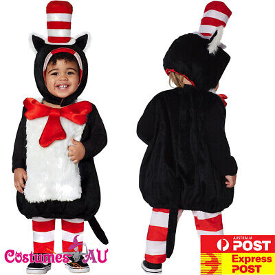 Kids Toddler Dr Seuss Cat In The Hat Costume Party Book Week Boys Child - Toddler Bible Costumes