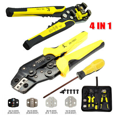 4 In 1 Wire Crimpers Self-adjusting Cable Striper Terminal Crimping Pliers Tool