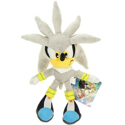 Sonic The Hedgehog Series Silver The Hedgehog Plush Doll Stuffed Animals Toy 11