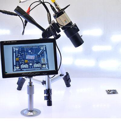 Varifocus Lens 800tvl Industrial Microscope Bnc Camera For Bga Pcb Soldering Pal