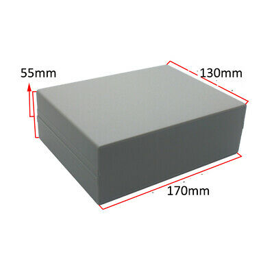 Waterproof Electronic Project Box Enclosure Plastic Cover Case 130x170x55mm Gray