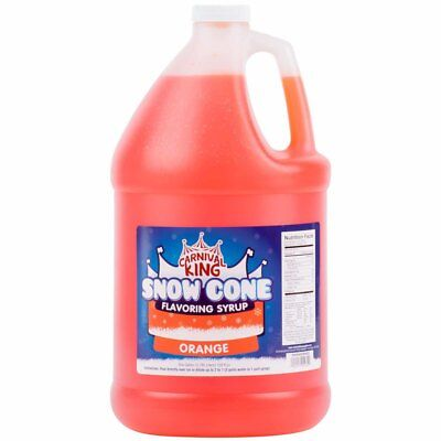 1 Gallon - Carnival King - Orange Snow Cone Syrup - Shaved Ice Slushy Flavor