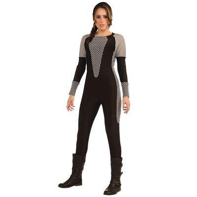Adult Ladies Katniss Everdeen Hunger Games Survival Swimsuit Fancy Dress Costume ()