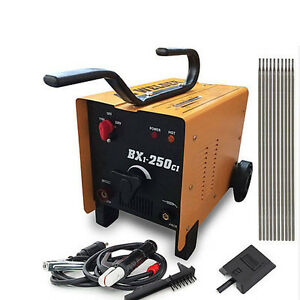 ARC Welder 110/220V AC mig Welding Machine 250 Amp + Face Mask Torch Accessories