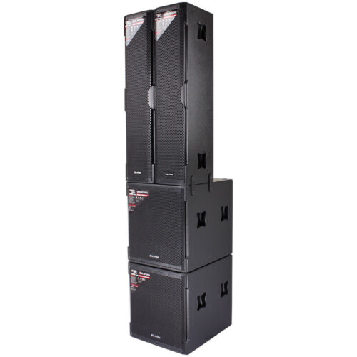 """Blastking Kxdiitp 2x Powered 18"""" Subs + 2x Active Speaker System 4000w Amplified"""