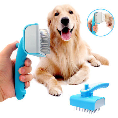 Blue Dog Brush Long Hair Dog Grooming Brush Large Heavy Pet Comb Deshedding Tool