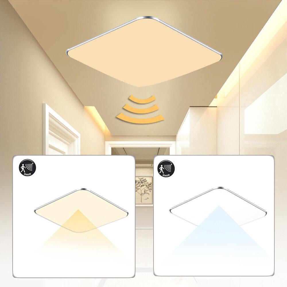 12W Sensorlampe LED Deckenlampe Deckenleuchte Innenleuchte mit Bewegungsmelder Warmweiß mit Rader Sensor