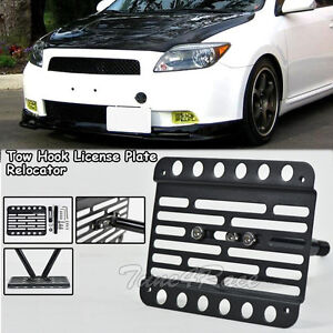 Scion Tc Front License Plate >> For-05-10-Scion-TC-Front-Tow-Hook-License-Plate-Relocated-Mount-Bracket-Holder