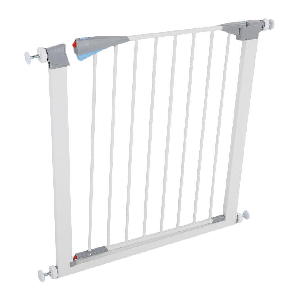 Pet Dog Safety Gate Door Fence Metal Easy Locking Guard Indo
