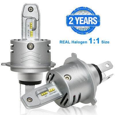 2X H4 9003 HB2 80W 12000LM CREE LED Headlight High Low Beam White 6500K Bulbs