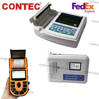 Contec Digital 1312-channel 12-lead Electrocardiograph Ecgekg Machine Pc Sw