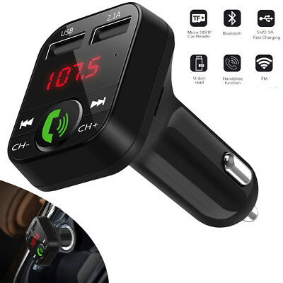 Auto Kabellos Wireless Bluetooth FM Sender Adapter Ladegerät USB MP3 Player zss - Usb-mp3-player Wireless Fm Transmitter