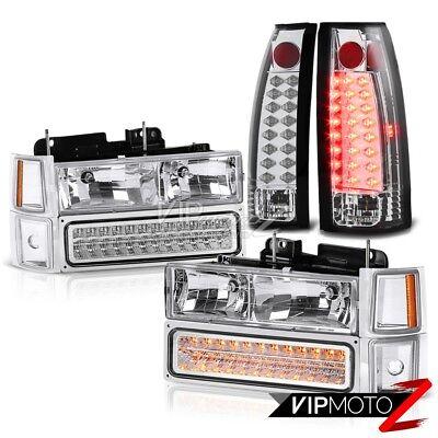 Chevrolet C1500 C2500 C3500 Suburban Silverado New LED Bulb Tail Light+Headlight