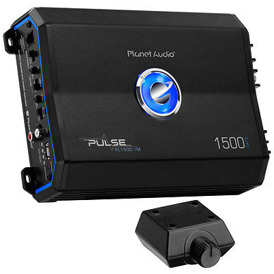 Planet Audio Pulse 1500W Monoblock Class AB MOSFET Amplifier w/ Remote PL1500.1M