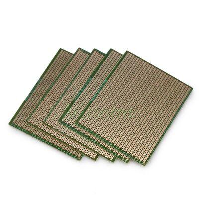 5pcs 70mm90mm Prototype Copper Strip Pcb Printed Circuit Board Diy Soldering