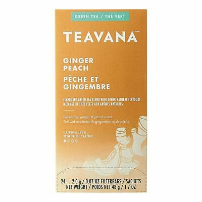 FRESH STOCK Teavana Ginger Peach Green Tea - 24 Tea Bags Ginger Peach Green Tea