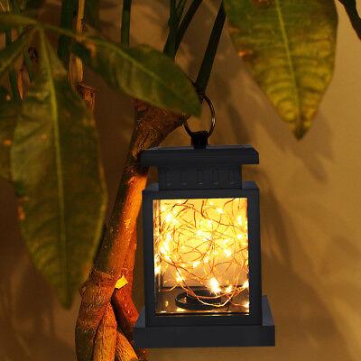 Outdoor Solar Power Lantern Hanging Decor Lamp LED Fairy String Light - Hanging Outdoor Decor