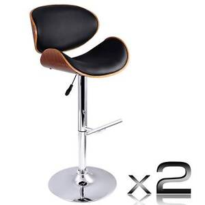 Free Delivery: Set of 2 Wooden Kitchen Bar Stool Padded Seat Bla Box Hill Whitehorse Area Preview