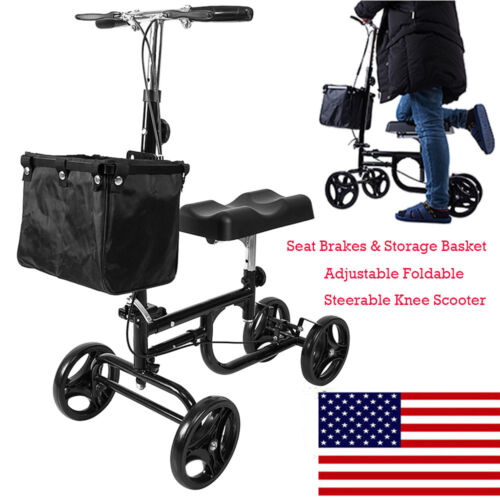 Steerable Knee Walker Scooter Foot Injuries Compact Crutches
