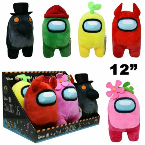 """12"""" Toikido Among Us Official Premium Soft Plush Toy NWT Licensed Pick Color"""