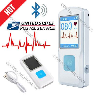 Us Fda Pm10 Portable Ecg Ekg Machine Usb Bluetooth Ecg Monitor App Data Analysis