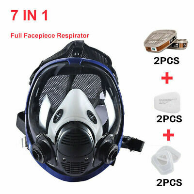 7in1 Full Facepiece Respirator Painting Spraying For 6800 Full Face Gas Mask