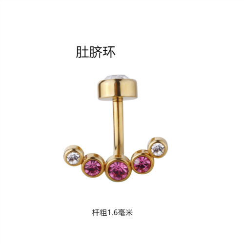 10pcs Ball Gems navel belly ring Button Barbells Body Piercing  14G New