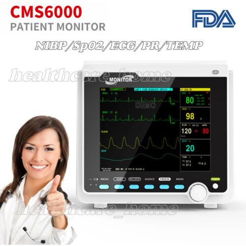 "Portable Medical Patient Monitor 8"" ICU Vital Signs ECG,RESP,SpO2,PR,NIBP,TEMP"