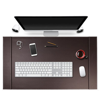 Sum Top-grain Vegan Leather Office Desk Pad Mouse Keyboard Laptop Mat 34 X 20