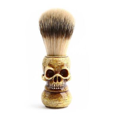 Men Shaving Brush Resin Skull Head Skeleton Natural Resin Handle Makeup I8B4 - Skull Makeup Man