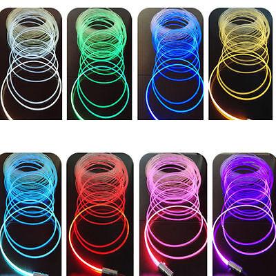 3mm 5M/10M PMMA Side Glow Optic Fiber + 1.5W 12V Light Source illuminator (5 Light Optic)