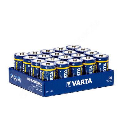 20x Baby C / LR14 - Batterie Alkaline, Varta Industrial 4014, 1,5V, 7800 mAh, Fo