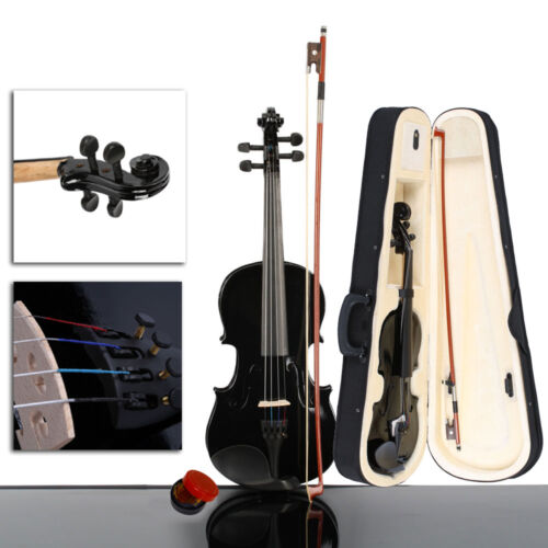 New Colorful 4/4 3/4 1/2 1/4 1/8 Size Acoustic Violin Fiddle with Case Bow