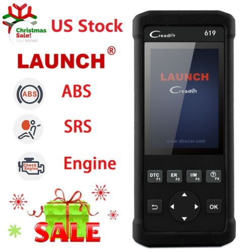 LAUNCH OBD2 Auto Diagnostic Scanner Tool ABS Airbag SRS Engine Car Code Reader