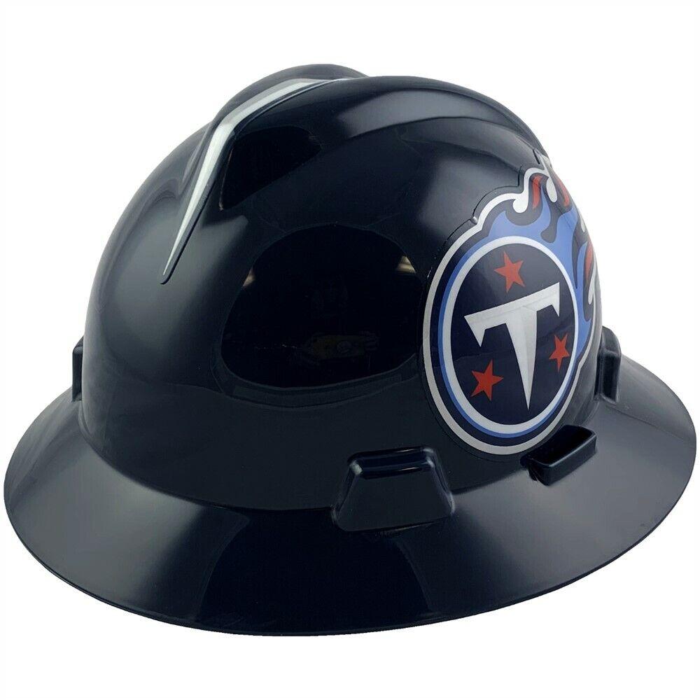 Tennessee Titans MSA NFL Full Brim Hard Hat with Fas Trac Su