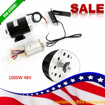 1000w 48v Dc Electric Motor Kits Base Speed Control For Scooter E-bike Cart