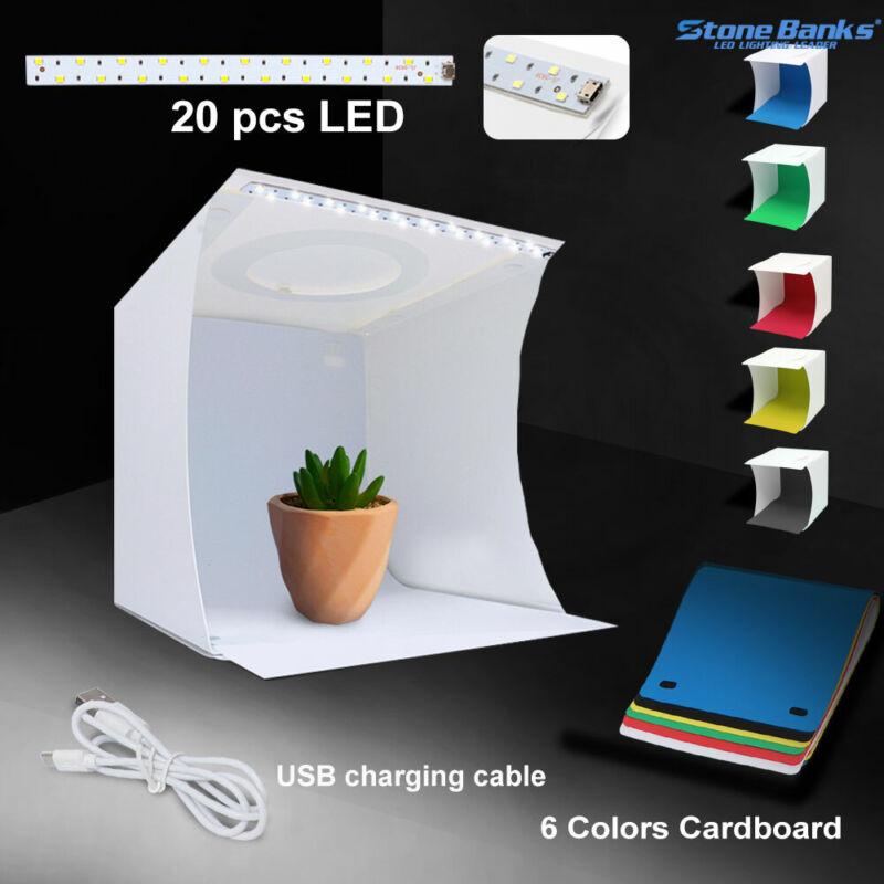 Photo Studio Photography Lighting Tent Light Room Cube Mini Box + 6pcs Backdrops